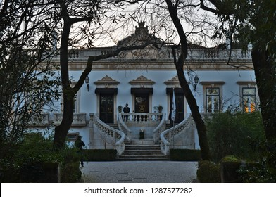 Coimbra, Coimbra / Portugal - December 31 2018: Hotel Quinta das Lagrimas, Located in the historical garden of Quinta das Lagrimas in Coimbra