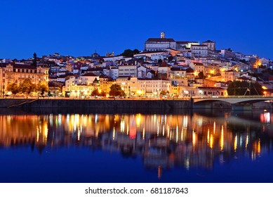 COIMBRA, PORTUGAL - JULY 3, 2017: Coimbra was the capital of Portugal from 1131 to 1255 and there is an University of Coimbra that is one of the oldest academic institution in Europe.