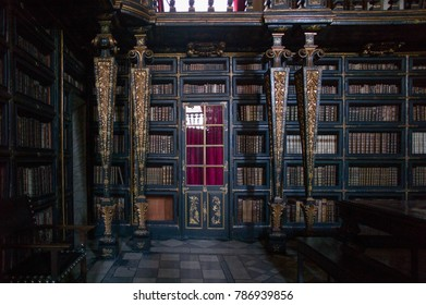 COIMBRA, PORTUGAL - MAY 29, 2016: University library in the Europe's oldest university in Coimbra