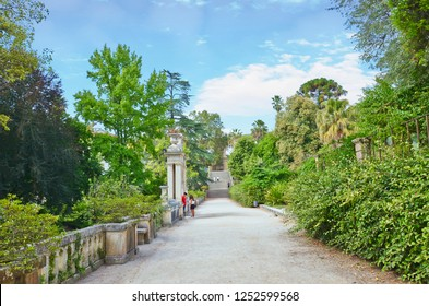 Coimbra, Portugal - Sep 4th 2018: Amazing Botanical Garden of the University of Coimbra. Founded already in 18th century. The gardens are considered one of the most beautiful of Europe.
