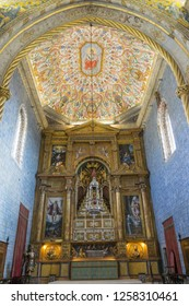 Coimbra, Portugal - September 14, 2018: São Miguel Chapel, Coimbra University. The chapel is a tourist attraction of the university old quarter in upper Coimbra. - Image
