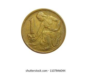 coin 1 crown 1962 Czechoslovakia