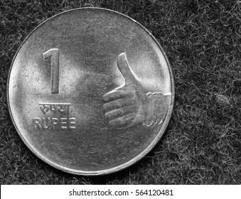 Coin 1 rupee, india