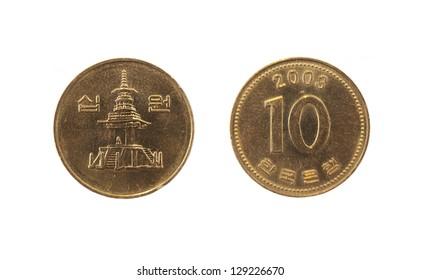 Coin 10 won. South Korea