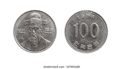Coin 100 South Korean won 1996