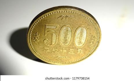 coin 500 yen of japan