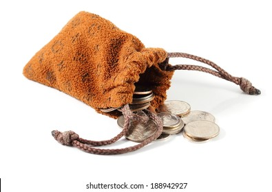 Coin Bag on white background