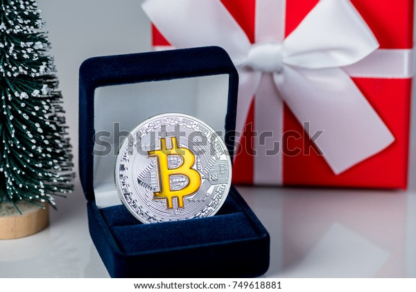 Coin Bitcoin Gift Box Jewelry Ring Stock Photo Edit Now 749618881