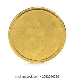 coin gold isolated on white background.