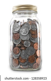 Coin Jar Isolated