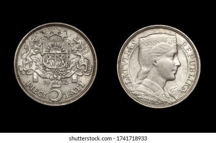 Coin of Latvia Republic, 1932