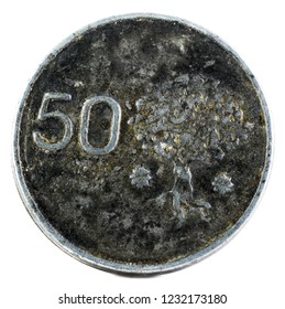 Coin minted for the Medieval Festival of Villa de Albuquerque. Extremadura. Spain. Reverse.