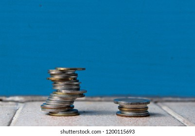 Coin Money build Asymmetrical Balance background and texture