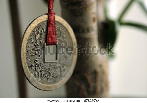 Coin money hanging on a tree