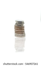 Coin on white background for finance Business present
