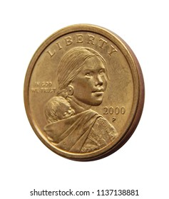 Coin one US dollar  (Sacagawea Dollar)