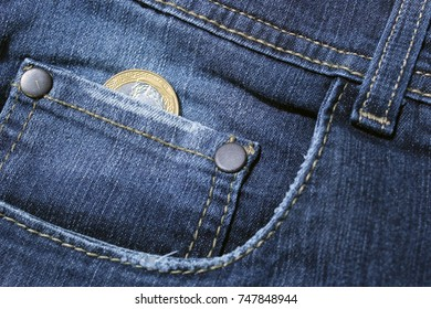 Coin in the pocket of the pants