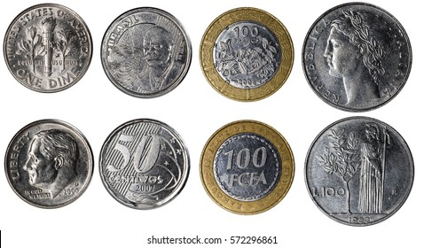 coin set, isolated