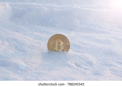 Coin in the snow.