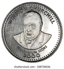 Coin Somalia 25 shillings 2000 of release. Winston Churchill
