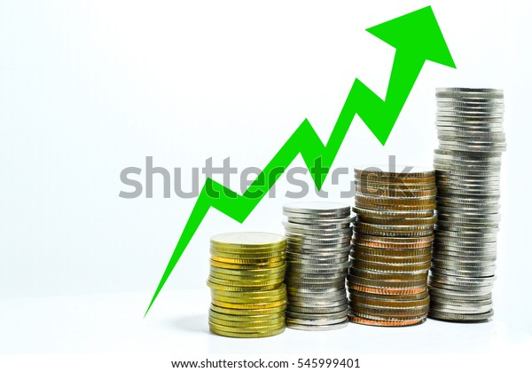 coin uptrend graph make money concept