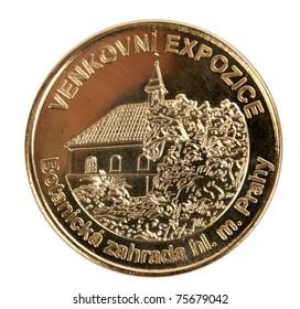 Coin venkovni expozice Botanicka zahrada on a white background - Shutterstock ID 75679042