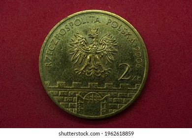 coin yellow metal poland 2 zlote - Shutterstock ID 1962618859