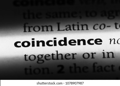 coincidence word in a dictionary. coincidence concept