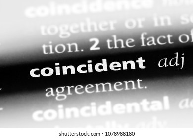 coincident word in a dictionary. coincident concept