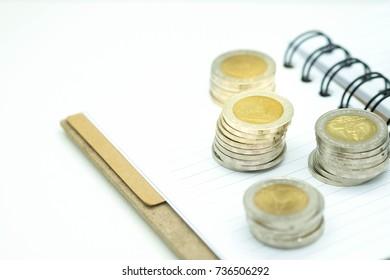 coins , Business concept , thailand
