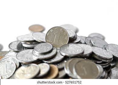 """The coins of Chinese Yuan, or call it """"Renminbi"""", issued by the People's Bank of China, the coins' face value have 1 Jiao (10 cents mean in English), 5 Jiao (50 cents mean in English) and 1 Yuan"""