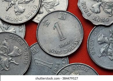Coins of Hong Kong. One Hong Kong dollar.