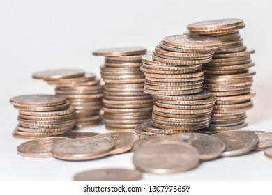 Coins money dollars