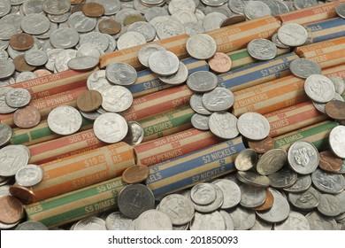 Coin Rolls Images Stock Photos Vectors Shutterstock