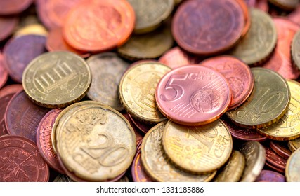 coins money small change tip euro cent background