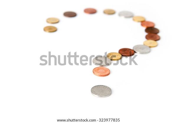 Coins question mark