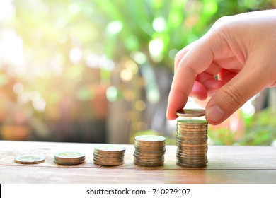 coins saving for concept investment finance fund and business