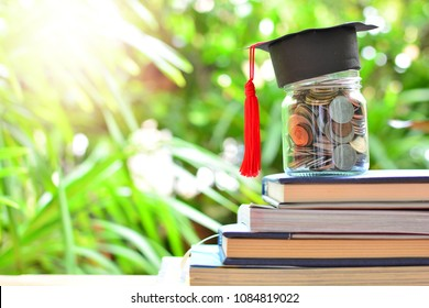 coins saving set on books for concept investment education and scholarships