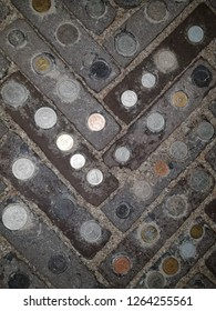 Coins in the street