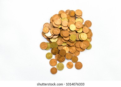 coins in white background