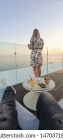coktail on best rooftop in marbella