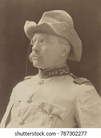 Col. Theodore Roosevelt in uniform of 1st United States Volunteer Cavalry, Oct. 26, 1898