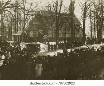 Col. Theodore Roosevelts funeral, January 8, 1919, at Christ Episcopal Church in Oyster Bay, NY