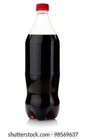 Cola bottle. Isolated on white background