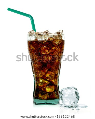 Cola with crushed ice