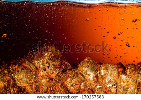 Cola with Ice Food