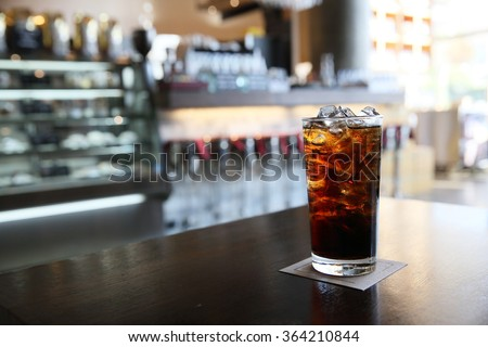 Cola on wood with