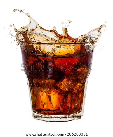 Cola with splash of