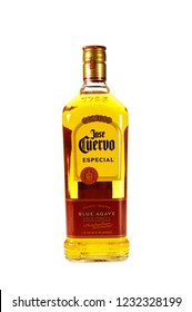 Colbert, WA - April 1, 2017: Jose Cuervo Mexican tequila isolated on white