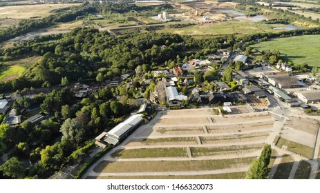 Colchester, Essex / England - July 07 2019: Aerial Photograph of Colchester Zoo
